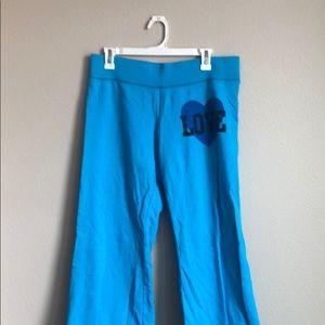 PINK blue sweatpants.